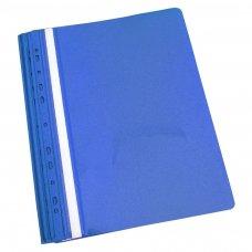 Aplankas su įsegėle ir europerforacija PANTA PLAST, A4, matinis viršelis, (pak. -10 vnt.), mėlynas
