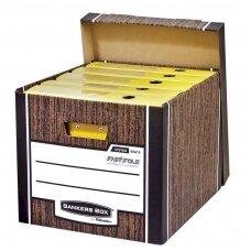 Archyvinė dėžė FELLOWES Woodgrain, 325 x 285 x 385 mm, (pak. -2 vnt.)