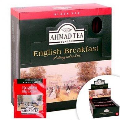 Arbata AHMAD Alu ENGLISH Breakfast, 100 x 2 g arbatos pakelių.