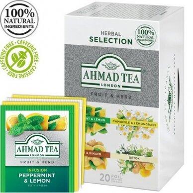 Arbata AHMAD FRUIT & HERB SELECTION, 20 arbatos pakelių folijos vokeliuose