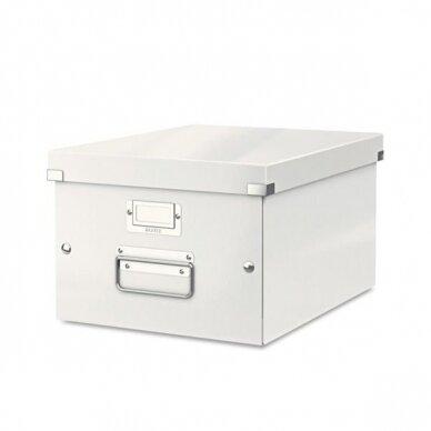 Archyvavimo dėžė LEITZ WOW, sudedama, A4, 200 x 281 x 370 mm, perlamutro balta