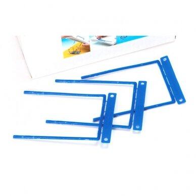 Archyvinės įsegėlės FORPUS, plastikinės su metalu, (pak. -100 vnt.), mėlynos 2