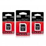 Atminties kortelė microSDHC class 10 UHS I 64GB + adapteris