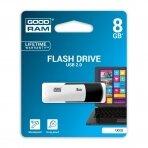 Atmintinė USB 2.0 GOODRAM UCO2 8GB, juoda/balta sp.