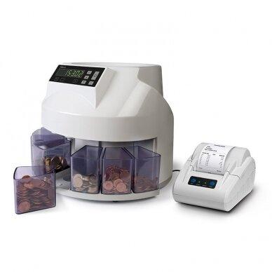 Automatinis Euro monetų skaičiavimo ir rūšiavimo aparatas SAFESCAN 1250 4