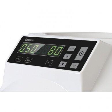 Automatinis Euro monetų skaičiavimo ir rūšiavimo aparatas SAFESCAN 1250 2