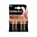 Baterija DURACELL AA, LR06, 4 vnt.