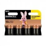 Baterija  DURACELL AA, LR06 8 vnt.