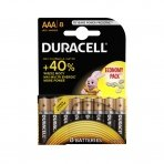 Baterija  DURACELL AAA, 8 vnt. LR03