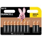 Baterijos DURACELL AA, 10vnt.