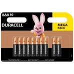 Baterijos DURACELL AAA, 10 vnt.