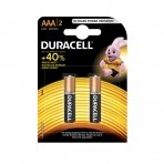Baterijos DURACELL AAA, LR03, 2 vnt.