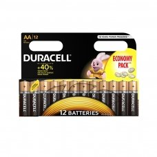 Baterijos DURACELL AA, LR06, 12 vnt.