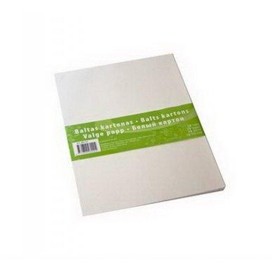 Baltas kartonas, A4, 10 lapų
