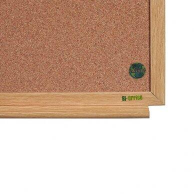 Baltoji magnetinė ir kamštinė lenta BI-OFFICE EARTH Combo 90x60, ąžuolo rėmas 4