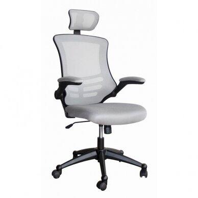 Biuro kėdė OFFICE4YOU RAGUSA, su porankiais, pilka sp.