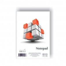 Bloknotas klijuotas SMLT, A5, 50 lapų, langeliais