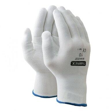 Darbo pirštinės TAMREX 3137, poliamidinis pluoštas su vinilo taškeliais, pora, dydis 8, balta