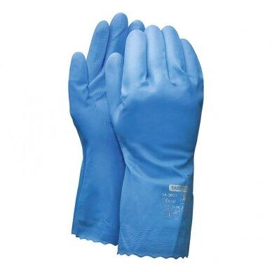 Darbo pirštinės TAMREX 3801, PVC, pora, dydis 7, mėlyna