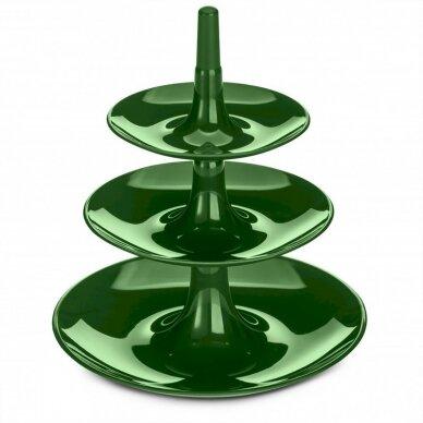 Desertų stovas, Etagère KOZIOL, Babell XS, 220 x 198 x 198 mm, smaragdo žalios sp.
