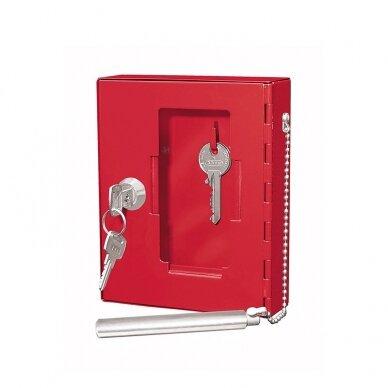 Dėžutė avariniam raktui WEDO, raudona sp.
