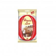 Drėgnos servetėlės HOUSE LUX, antibakterinis efektas, universalios, 30 servetėlių