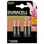 """Duracell Recharge 900 mAh"" AAA baterijos, 4 baterijų pakuotė"