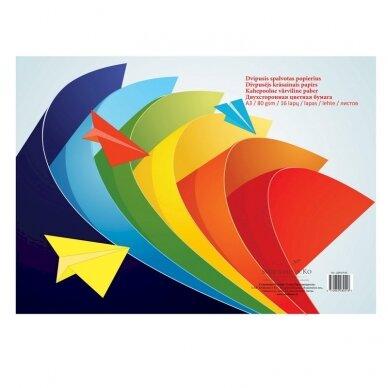 Dvipusis spalvotas popierius SMLT, A3, 80 g/m2, 16 lapų