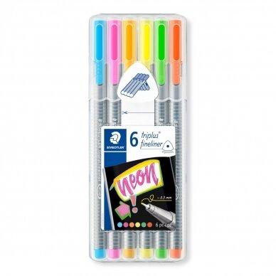 Flomasterio-tipo rašiklių rinkinys STAEDTLER TRIPLUS™ NEON COLOURS, 0,3 mm 2