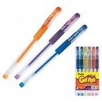 Gelinis rašiklis PATIO GLITTER su blizgučiais, 6 spalvų rinkinys