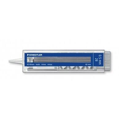 Grafitai automatiniams pieštukams STAEDTLER 255, 0,5 mm, 2B