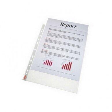 Įmautė dokumentams ESSELTE, A4, 75 mikr.,(pak. -100 vnt.), skaidri