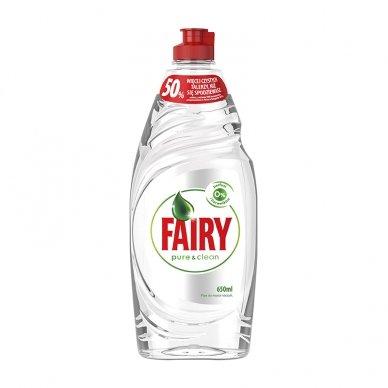 Indų ploviklis FAIRY Pure&Clean, 650 ml