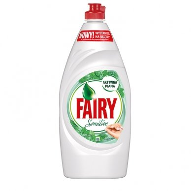 Indų ploviklis FAIRY SENSITIVE Tea Tree & Mint, 900 ml