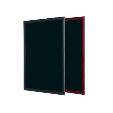 Juoda kreidinė lenta BI-OFFICE 90x60, juodas medinis rėmas