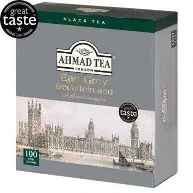 Juodoji arbata AHMAD Alu Earl grey Decaffeinated, 100 vnt. arbatos pakelių folijos vokeliuose