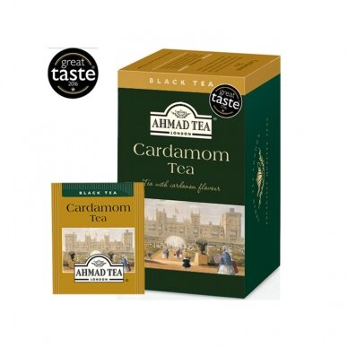 Juodoji arbata AHMAD Cardamon, 20 arbatos pakelių x 2 g