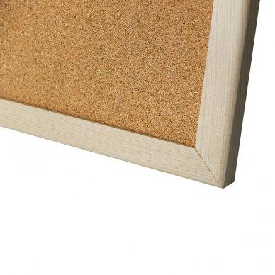 Kamštinė lenta MEMOBOARDS, 120x80 cm, medinis rėmas 2