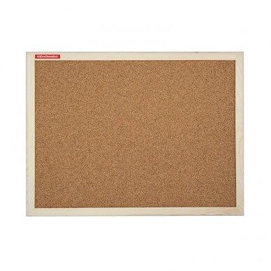 Kamštinė lenta MEMOBOARDS, 120x90 cm, medinis rėmas