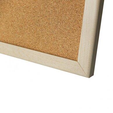 Kamštinė lenta MEMOBOARDS, 60x50 cm, medinis rėmas 2