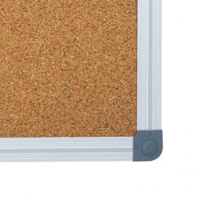 Kamštinė lenta MEMOBOARDS CLASSIC, 150x100 cm, aliuminio rėmas 2