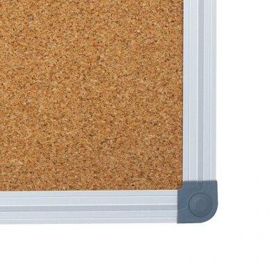 Kamštinė lenta MEMOBOARDS CLASSIC, 180x120 cm, aliuminio rėmas 2