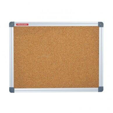 Kamštinė lenta MEMOBOARDS CLASSIC, 180x120 cm, aliuminio rėmas