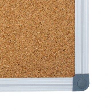 Kamštinė lenta MEMOBOARDS CLASSIC, 90x60 cm, aliuminio rėmas 2