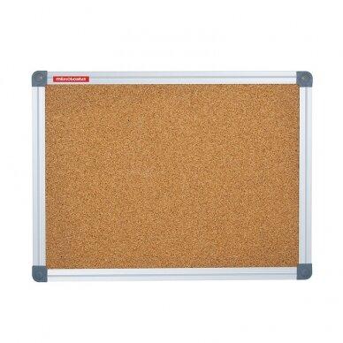 Kamštinė lenta MEMOBOARDS CLASSIC, 90x60 cm, aliuminio rėmas