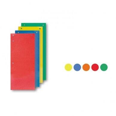 Kartoniniai skirtukai SMLT, 50 lapų, 11 x 23,5 cm
