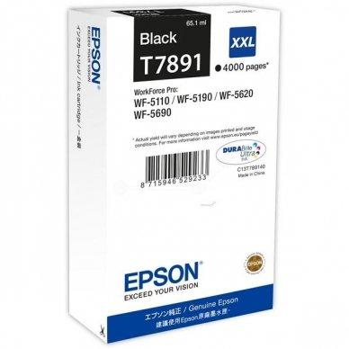 Kasetė Epson T7891XXL (C13T789140) BK 4000psl OEM