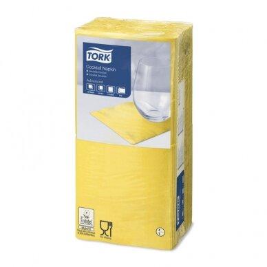 Kokteilių servetėlės TORK 477823, geltona sp.