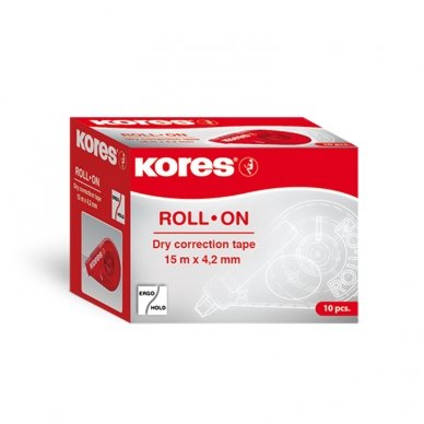 Koreguoklis KORES ROLL ON RED, 4,2 mm x 15 m 2