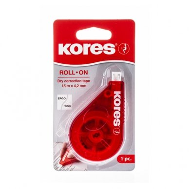 Koreguoklis KORES ROLL ON RED, 4,2 mm x 15 m